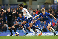 Tashan Oakley-Boothe of Tottenham Hotspur in possession as Chelsea's Luke McCormick looks on during Chelsea Under-23 vs Tottenham Hotspur Under-23, Premier League 2 Football at Stamford Bridge on 13th April 2018