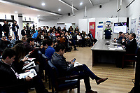 BOGOTA – COLOMBIA, 20-03-2019: Rueda de prensa de presentación del Claro Colsanitas WTA 2019 de tenis en el auditorio Adolfo Carvajal, en Coldeportes, torneo que se realizará en las canchas del Carmel Club en la ciudad de Bogotá del 6 al 14 de abril de 2019. / Press conference to present the Claro Colsanitas WTA 2019 tennis in the auditorium Adolfo Carvajal, in Coldeportes, tournament to be held in the courts of the Carmel Club in the city of Bogotá from April 6 to 14, 2019. / Photo: VizzorImage / Luis Ramírez / Staff.