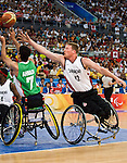 Patrick Anderson of Vancouver is considered the most talented wheelchar basketball player in the world.<br /> Canada defeated Iran 93-62<br /> - Photo Benoit Pelosse-CPC
