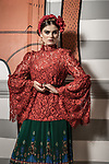 Sunday Mail Fashion with Mirella , Frida Kahlo inspired, at Mexican Society Gouger Street Adelaide. Photo: Nick Clayton