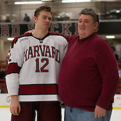 Brendan Rempel (Harvard - 12) - The Class of 2013 was celebrated following the final Harvard Crimson home game of the season on Saturday, March 2, 2013, at Bright Hockey Center in Cambridge, Massachusetts.