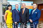 Mary Lucey (KCFE), Eoin O'Donnell (Director of ETB), Jim Finucane (Chairman of ETB) and Con O'Sullivan (Manager of ETB Training Centre) at the ETB Awards in the Rose Hotel on Thursday evening.
