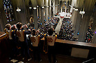 Nov. 20, 2010; Members of the Notre Dame band play the Alma Mater at the end of Mass at St. Patrick's Cathedral in New York City before the Notre Dame-Army football game at Yankee Stadium...Photo by Matt Cashore/University of Notre Dame