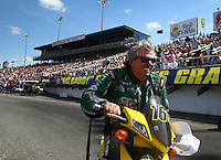Mar 16, 2014; Gainesville, FL, USA; NHRA funny car driver John Force during the Gatornationals at Gainesville Raceway Mandatory Credit: Mark J. Rebilas-USA TODAY Sports
