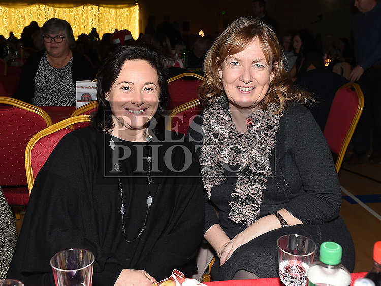 Denise Kelleher and Grainne Horan at the Trio Royale show in St. Kevins GAA club Philipstown. Photo:Colin Bell/pressphotos.ie