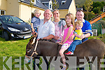 The Ferriter family from Castlegregory who went for a  donkey ride at the Camp Vintage Rally, on Sunday l-r: Jerry, Conor, Ciara,Maeve,Brian and Ryan Ferriter.