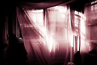billowing curtains