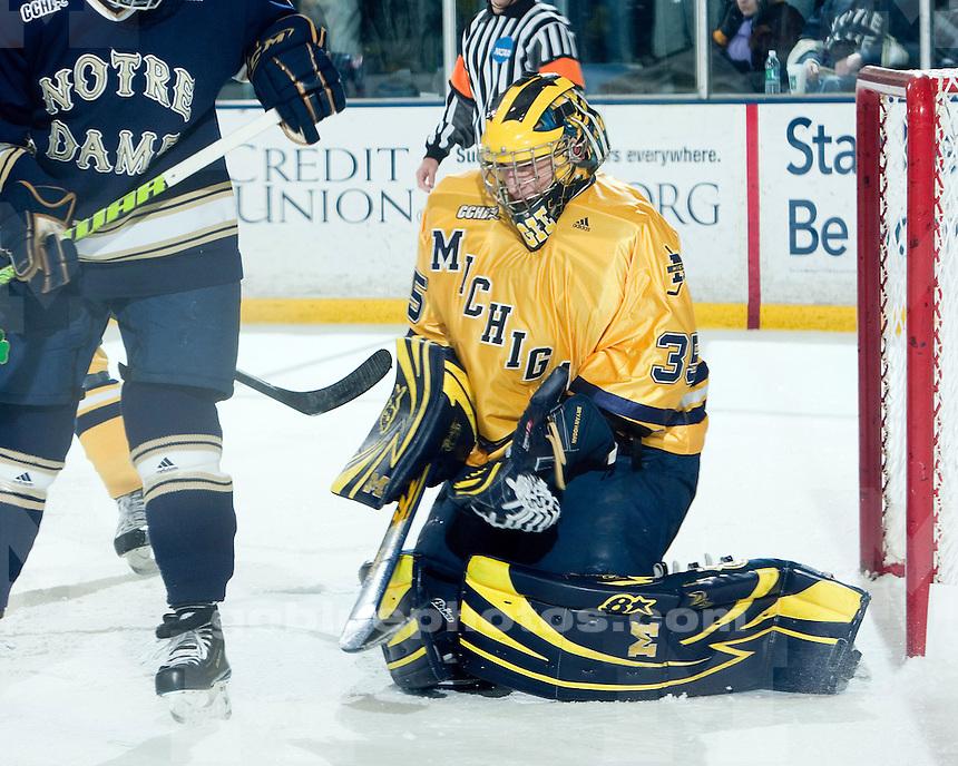 12/11/09 Michigan vs. Notre Dame ice hockey at Yost Ice Arena.  U-M won 4-1.