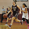 Gabrielle Zaffiro #13 of North Shore dribbles downcourt during a varsity girls' basketball game against host Glen Cove High School on Friday, Dec. 18, 2015. She scored a game high 36 points, including 16 in the third quarter, to lead North Shore to a 64-53 win.
