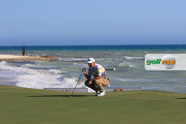 Mark Foster (ENG) on the 15th green during Round 3 of The Rocco Forte Open  at Verdura Golf Club on Saturday 20th May 2017.<br /> Photo: Golffile / Thos Caffrey.<br /> <br /> All photo usage must carry mandatory copyright credit     (&copy; Golffile | Thos Caffrey)