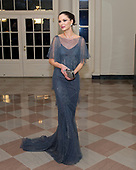 File photo showing Georgina Chapman, wife of Harvey Weinstein, as she arrives for the Official Dinner in honor of Prime Minister David Cameron of Great Britain and his wife, Samantha, at the White House in Washington, D.C. on Tuesday, March 14, 2012.  Chapman announced on October 10, 2017 that she was leaving her husband as his involvement in a sex scandal deepens.<br /> Credit: Ron Sachs / CNP<br /> (RESTRICTION: NO New York or New Jersey Newspapers or newspapers within a 75 mile radius of New York City)
