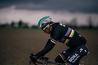 World Champion Peter Sagan (SVK/Bora-Hansgrohe) under a doomy sky<br /> <br /> 109th Milano-Sanremo 2018<br /> Milano &gt; Sanremo (291km)