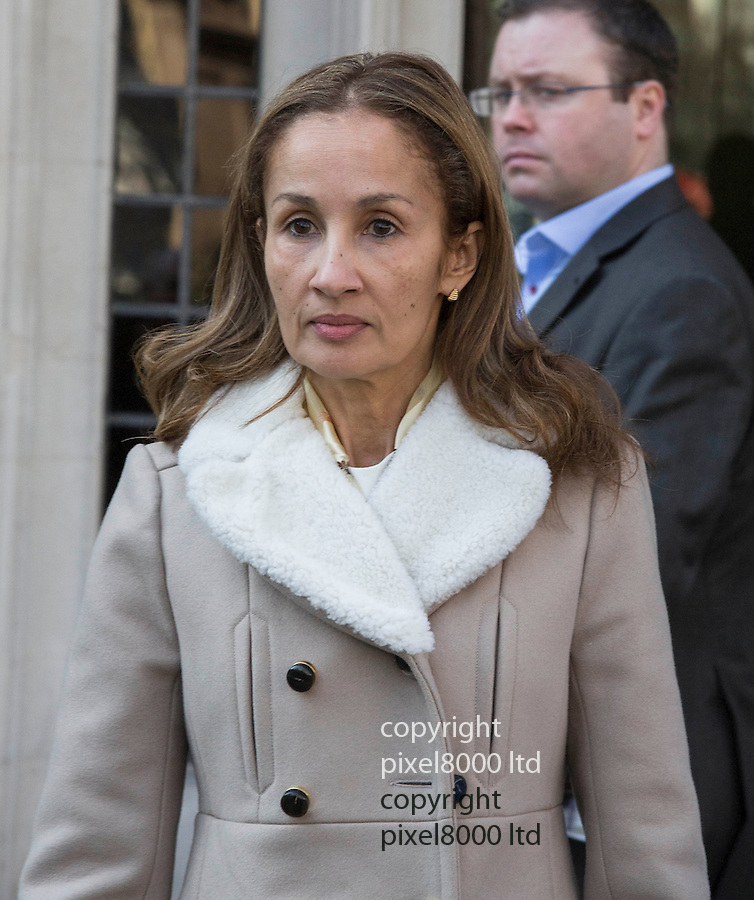 Pic shows: Yasmin Prest - ex wife of Nigerian Oil Executive, Michael Prest - leaving the Supreme Court in London today..5.3.13.A surge in ?privatised? divorce settlements has been predicted after a landmark case being heard in the country's highest court today threatened to force husbands to disclose details of their assets..Yasmin Prest, 49, the ex-wife of a wealthy oil executive, is challenging a decision that has been condemned as a ?cheat's charter? in the Supreme Court. The case, between Yasmin and her former husband, Michael Prest, rests on whether three companies own.....Pic by Gavin Rodgers/Pixel 8000 Ltd