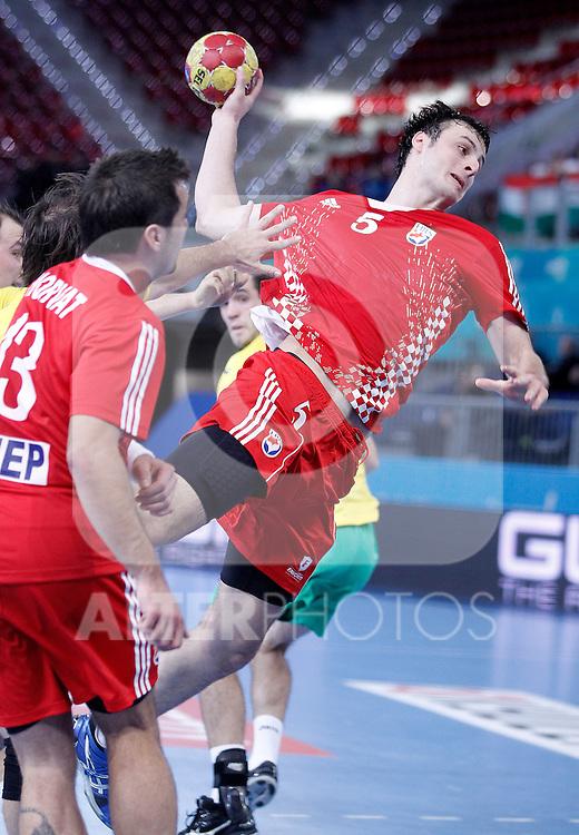 Croatia's Domagoj Duvnjak during 23rd Men's Handball World Championship preliminary round match.January 12 ,2013. (ALTERPHOTOS/Acero)