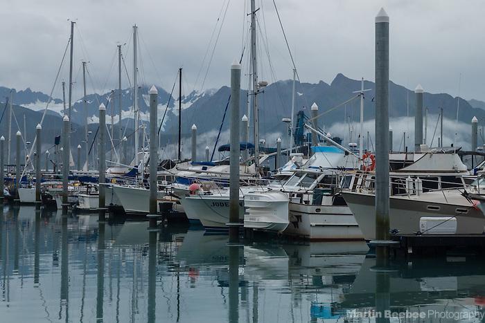 Fishing boats and mountains, Seward, Alaska