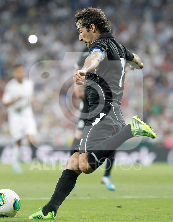 Al Sadd's Raul Gonzalez Blanco during Santiago Bernabeu Trophy.August 22,2013. (ALTERPHOTOS/Acero)