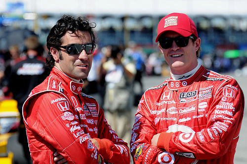 8-10 July, 2011, Toronto, Ontario CA<br /> Dario Franchitti (l) and teammate Scott Dixon.<br /> (c)2011, Paul Webb<br /> LAT Photo USA