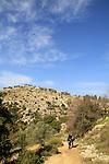 Israel, Upper Galilee, hiking at Mount Meron