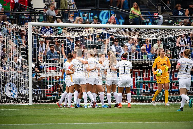 Tacoma, WA - Sunday, August 11, 2019: Reign FC vs Utah Royals at Cheney Stadium.
