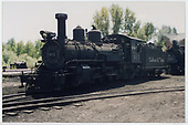 3/4 view of engine #463 at Chama.<br /> C&amp;TS  Chama, NM