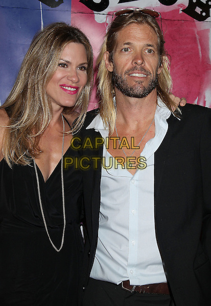 Taylor Hawkins<br /> &quot;CBGB&quot; West Coast Premiere held at ArcLight Cinemas, Hollywood, California, USA, 1st October 2013.<br /> half length blue shirt black beard facial hair <br /> CAP/ADM/RE<br /> &copy;Russ Elliot/AdMedia/Capital Pictures