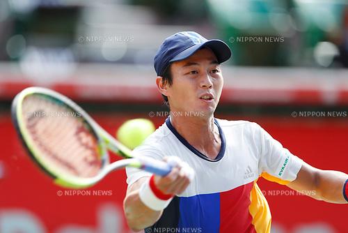 Lu Yen-Hsun (TPE), <br /> OCTOBER 5, 2017 - Tennis : <br /> Rakuten Japan Open Tennis Championships 2017 <br /> Singles 2nd round match <br /> at Ariake Coliseum, Tokyo, Japan. <br /> (Photo by Yohei Osada/AFLO SPORT)