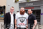 Kerry Comedy Club is teaming up with Il Forno restaurant in Tralee and hosting a charity night on Thursday June 30th with funds raised for local suicide awareness charities Console and Kerry Lifeline. Pictured were: Seamus Kelly (Kerry Comedy Club), Gary O'Dowd and Mike Moriarty (Il Forno).