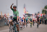 Peter Sagan (SVK/Bora-Hansgrohe) wins teh stage<br /> <br /> Stage 13: Bourg d'Oisans &gt; Valence (169km)<br /> <br /> 105th Tour de France 2018<br /> &copy;kramon