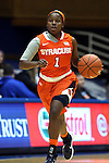 08 January 2015: Syracuse's Alexis Peterson. The Duke University Blue Devils hosted the Syracuse University Orange at Cameron Indoor Stadium in Durham, North Carolina in a 2014-15 NCAA Division I Women's Basketball game. Duke won the game 74-72.
