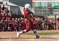 NWA Democrat-Gazette/BEN GOFF @NWABENGOFF<br /> Taylor Greene, Arkansas catcher, grounds out in the 6th inning vs South Carolina Sunday, March 17, 2019, at Bogle Park in Fayetteville.