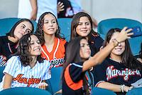 Mujeres aficionadas , durante partido3 de beisbol entre Naranjeros de Hermosillo vs Mayos de Navojoa. Temporada 2016 2017 de la Liga Mexicana del Pacifico.<br /> © Foto: LuisGutierrez/NORTEPHOTO.COM