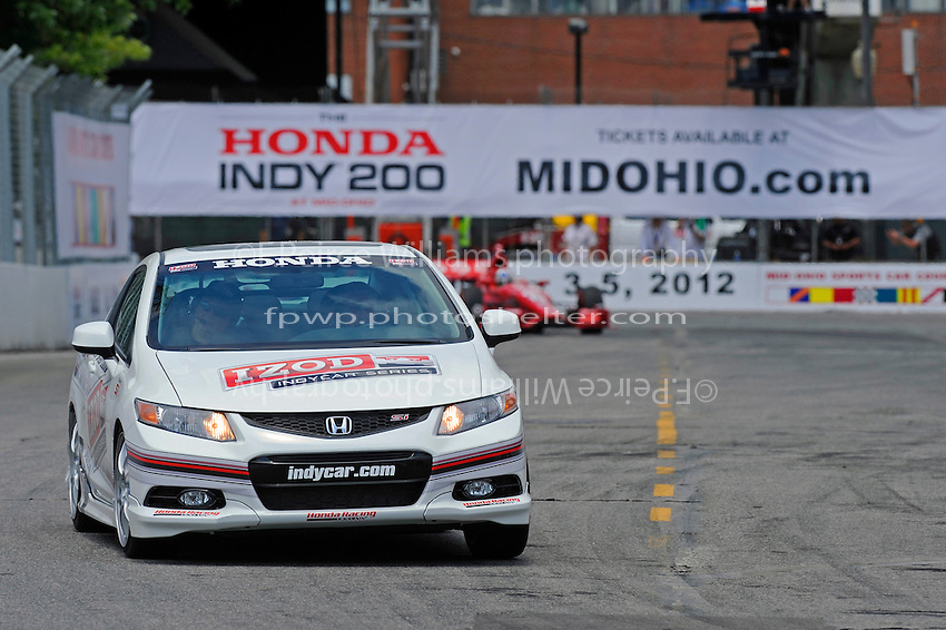 Honda pace the field