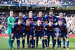 Players of FC Barcelona pose for a photo prior to the La Liga 2017-18 match between Real Madrid and FC Barcelona at Santiago Bernabeu Stadium on December 23 2017 in Madrid, Spain. Photo by Diego Gonzalez / Power Sport Images