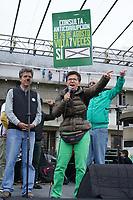 """BOGOTÁ -COLOMBIA, 07-08-2018: Clara Lopez, miembro del partido Colombia Humana en el parque de La Hoja en Bogotá hoy, 07 de agosto de 2018, durante la """"Marcha por la Vida"""" convocada por el excandidato presidencial y líder de """"Colombia Humana"""" Gustavo Petro y que se realiza simultaneamente en las principales ciudades de Colombia . / Clara Lopez, member of Colombia Humana Party in the La Hoja park in Bogotá today, August 7, 2018, during the """"March for Life"""" convened by the former presidential candidate and leader of """"Colombia Humana"""" Gustavo Petro and which takes place simultaneously at the Main cities of Colombia. Photo: VizzorImage / Diego Cuevas / Cont"""