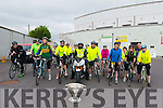 50 km start line at the Kerry GAA Cycle Challenge in the Fitzgerald Stadium, Killarney last Saturday morning.