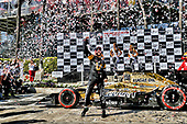 2017 Verizon IndyCar Series<br /> Toyota Grand Prix of Long Beach<br /> Streets of Long Beach, CA USA<br /> Sunday 9 April 2017<br /> James Hinchcliffe, podium<br /> World Copyright: Michael L. Levitt<br /> LAT Images