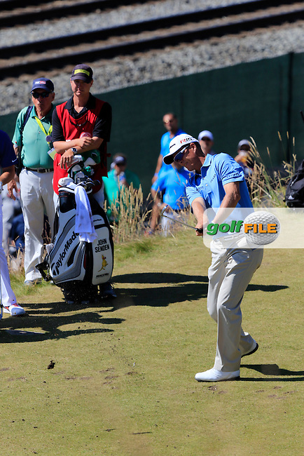 John SENDEN (AUS) tees off the 17th tee during Sunday's Final Round of the 2015 U.S. Open 115th National Championship held at Chambers Bay, Seattle, Washington, USA. 6/22/2015.<br /> Picture: Golffile | Eoin Clarke<br /> <br /> <br /> <br /> <br /> All photo usage must carry mandatory copyright credit (&copy; Golffile | Eoin Clarke)