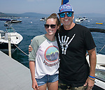 Paige and Jeff during the Concours d'Elegance Wood Boat Show at Lake Tahoe on Friday, August 10, 2018.
