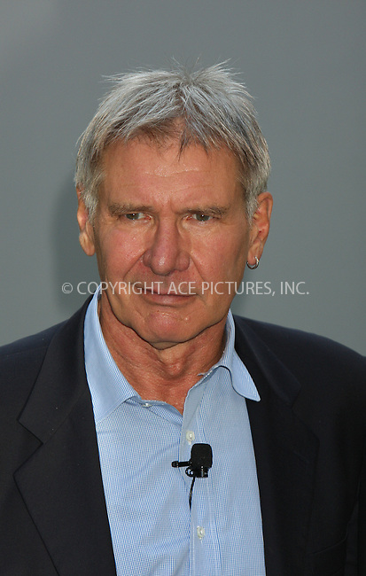 WWW.ACEPIXS.COM . . . . .  ....September 21 2009, New York City....Actor Harrison Ford at the Team Earth press conference at Greeley Square Park on September 21, 2009 in New York City. ....Please byline: AJ Sokalner - ACEPIXS.COM..... *** ***..Ace Pictures, Inc:  ..tel: (212) 243 8787..e-mail: info@acepixs.com..web: http://www.acepixs.com