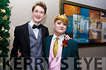 Barry Sugrue and Pierce O'Brien of Tralee attending the Mercy Mounthawk debs in the Ballyroe Heights Hotel on Thursday night last.