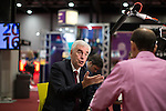 © Joel Goodman - 07973 332324 . 26/09/2016 . Liverpool , UK . Shadow chancellor JOHN MCDONNELL being interviewed by Norman Smith at the conference ahead of his speech on the economy . The second day of the Labour Party Conference at the ACC Liverpool . Photo credit : Joel Goodman