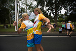 Batonbearers Jule Wales (left) and Katie Thorn exchange the Baton during the Queen's Baton relay through Bellingen. From 25 January to 2 March 2018, the Queen's Baton will visit every other state and territory before Queensland. As the Queen's Baton Relay travels the length and breadth of Australia, it will not just pass through, but spend quality time in each community it visits, calling into hundreds of local schools and community celebrations in every state and territory. The Gold Coast 2018 Commonwealth Games (GC2018) Queen's Baton Relay is the longest and most accessible in history, travelling through the Commonwealth for 388 days and 230,000 kilometres. After spending 100 days being carried by approximately 3,800 batonbearers in Australia, the Queen's Baton journey will finish at the GC2018 Opening Ceremony on the Gold Coast on 4 April 2018.