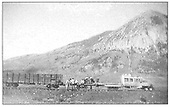 Dismantling D&amp;RGW Crested Butte Branch with Crested Butte in background.  Brinkerhoff is using RGS Goose #7 without its bodies.<br /> D&amp;RGW  Crested Butte, CO