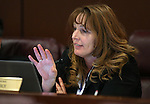 Nevada Assembly Minority Leader Marilyn Kirkpatrick, D-North Las Vegas, works in committee at the Legislative Building in Carson City, Nev., on Tuesday, April 7, 2015. <br /> Photo by Cathleen Allison