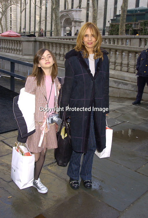 Rosanna Arquette and daughter Zoe ..at The Heart Truth's Red Dress Collection at the Olympus..Fashion Week in Bryant Park on February 4, 2005...Photo by Robin Platzer, Twin Images