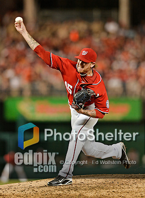 19 May 2012: Washington Nationals pitcher Ryan Perry on the mound against the Baltimore Orioles at Nationals Park in Washington, DC. The Orioles defeated the Nationals 6-5 in the second game of their 3-game series. Mandatory Credit: Ed Wolfstein Photo