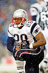 New England Patriotsrunningback Corey Dillon catches his breath after a rush against the Buffalo Bills at Ralph Wilson Stadium in Orchard Park, NY, on December 11, 2005 . The Patriots defeated the Bills 35-7. Mandatory Photo Credit: Ed Wolfstein