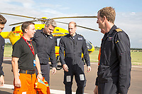 27 July 2017 - Cambridge, Cambridgeshire - Prince William Duke of Cambridge starts his final shift with the East Anglian Air Ambulance (EAAA) based out of Cambridge International Airport aka Marshall Airport. Photo Credit: Alpha Press/AdMedia