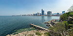 A Five Image Panorama Of The Yantai (Chefoo) Seafront Taken From The Small Headland Beneath Former The British Consulate (With The Consular Jetty Perhaps?!).