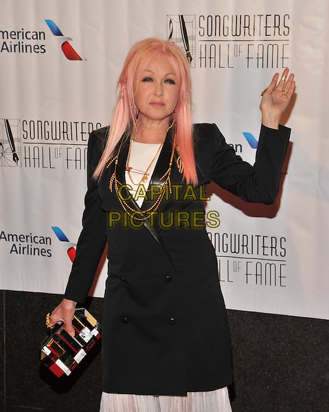 New York,NY-June 18: Cyndi Lauper attends the Songwriters Hall of Fame 46th Annual Induction and Awards at the Marriott Marquis Hotel on June 18, 2015 in New York City  <br /> CAP/MPI/mpiSTE<br /> &copy;mpiSTE/MediaPunch/Capital Pictures